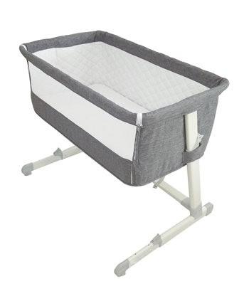 Babylo Cozi Sleep Bedside Crib Grey